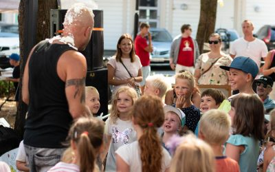 Interaktiv rock på BarneStreet med Tomas F Band