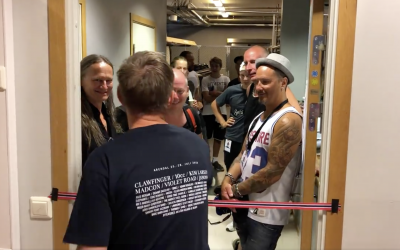 Snorklipping og konfetti ved offisiell åpning av Clawfingers backstagegarderobe